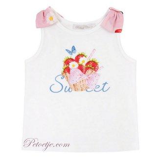 BALLOON CHIC Meisjes Witte Aardbeien Top