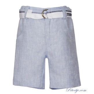 LAPIN HOUSE Boys Blue Chambray Bermuda Short