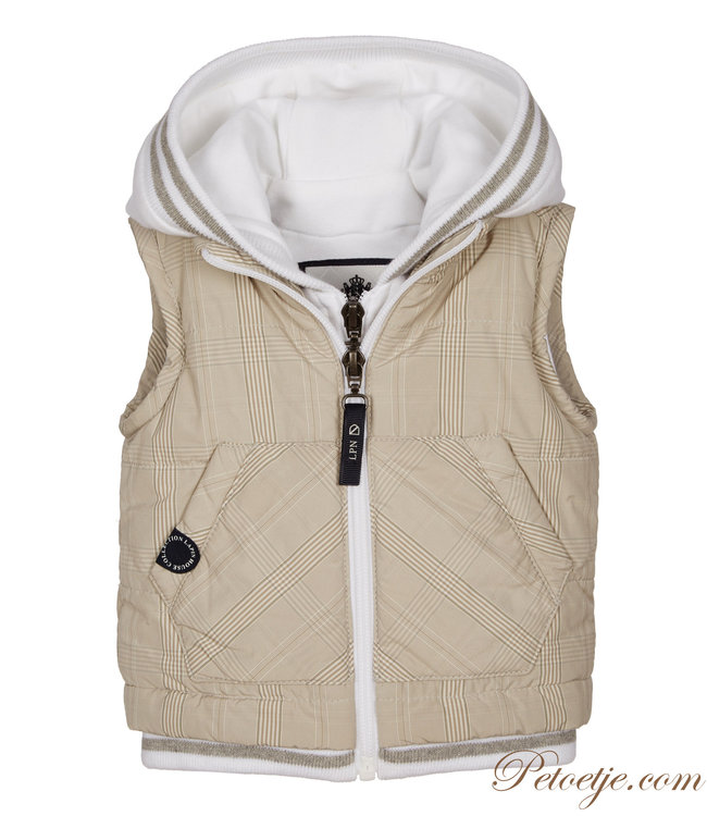 LAPIN HOUSE Boys Beige Padded Gilet