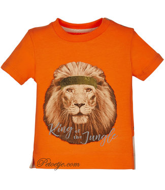 LAPIN HOUSE Boys Orange Lion T-shirt
