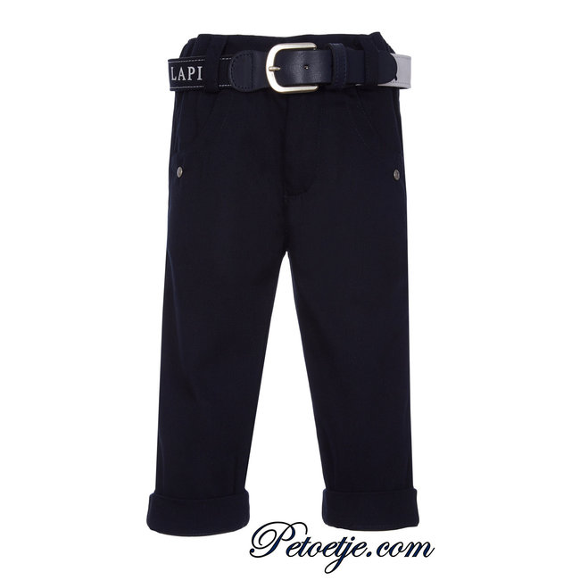 LAPIN HOUSE Boys Navy Blue Trousers & Belt