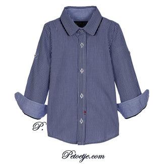 LAPIN HOUSE Jongens Blauw Gestreept Hemd