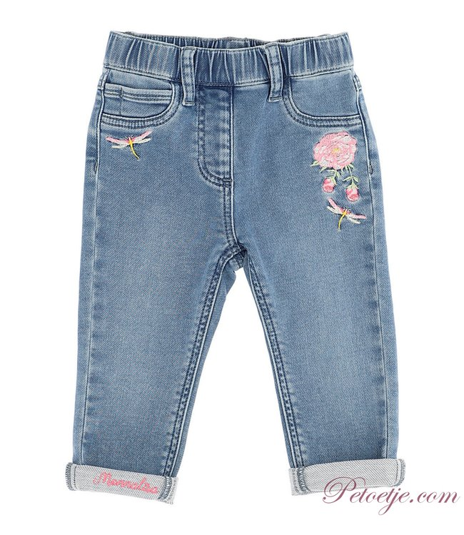 MONNALISA Baby Girls Blue denim Jeans