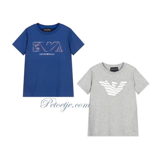 EMPORIO ARMANI Boys Cotton T-Shirts (2 Pack)