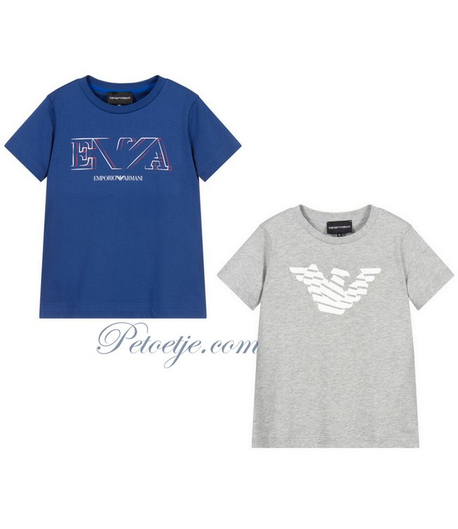 EMPORIO ARMANI Boys Cotton T-Shirts (2 Pack)