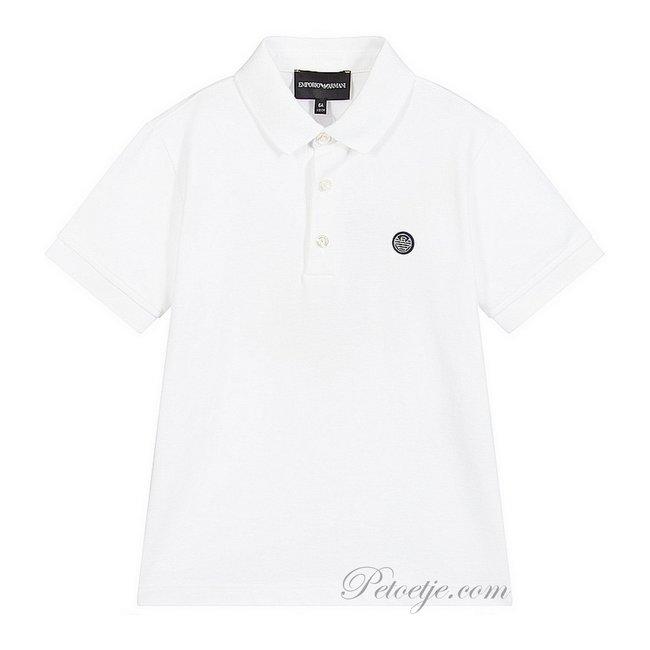 EMPORIO ARMANI White Cotton Polo Shirt