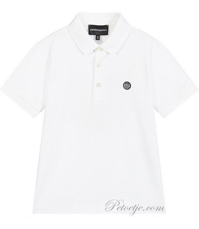 EMPORIO ARMANI White Cotton Polo Shirt