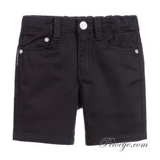 EMPORIO ARMANI Baby Boys Blue Cotton Shorts