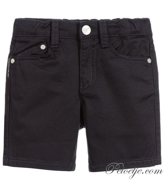 EMPORIO ARMANI Baby Boys Blue Cotton Shorts