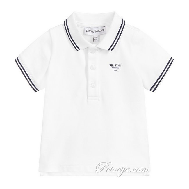 EMPORIO ARMANI Baby Jongens Witte Logo Polo
