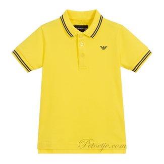 EMPORIO ARMANI Jongens Gele Logo Polo Shirt