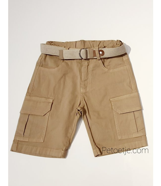 LAPIN HOUSE Boys Beige Cargo Shorts