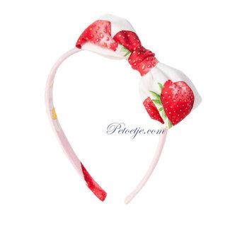 BALLOON CHIC White Strawberry Hairband