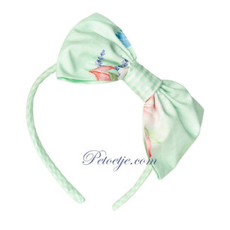 BALLOON CHIC Green Floral Hairband