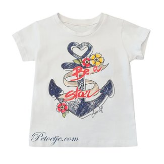 LIU JO Girls White Anchor T-Shirt