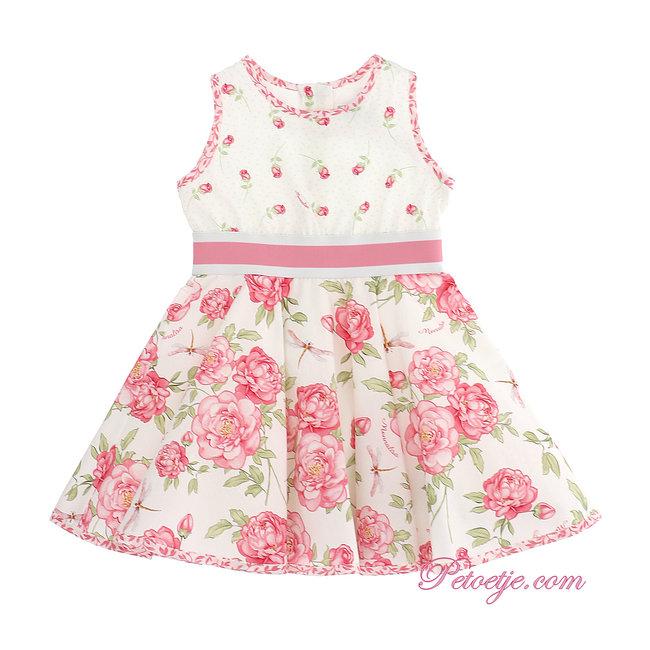 MONNALISA Pink & Ivory Floral Dress