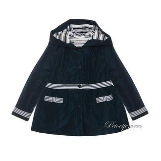 PATACHOU Girls Navy Blue Raincoat