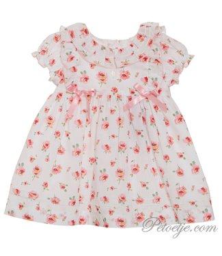 PATACHOU White & Pink Rose Dress