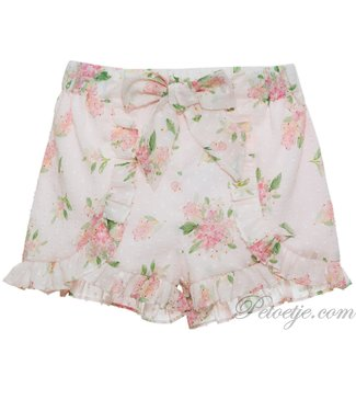 PATACHOU Girls Pink Floral Plumeti Shorts