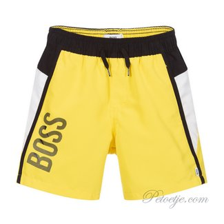 HUGO BOSS Kidswear  Gele Logo Zwem Short