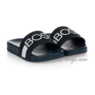 HUGO BOSS Kidswear  Jongens Blauwe Logo Slippers
