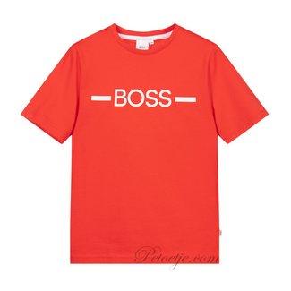 HUGO BOSS Kidswear  Jongens Rode Logo T-Shirt
