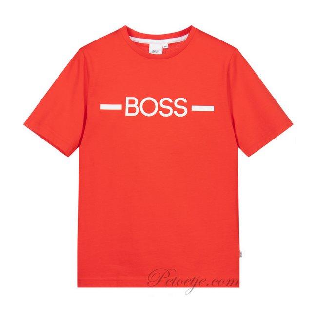 HUGO BOSS Kidswear  Boys Red Logo T-shirt
