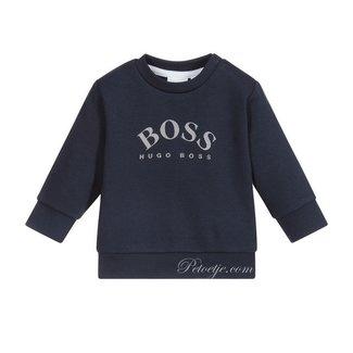 HUGO BOSS Kidswear  Boys Blue Logo Sweatshirt