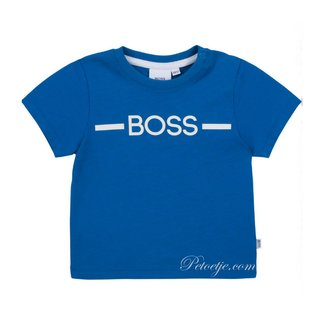 HUGO BOSS Kidswear  Jongens Kobalt Blauwe Logo T-Shirt