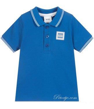 HUGO BOSS Kidswear  Blue Cotton Pique Polo Shirt