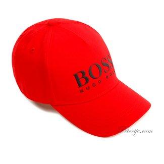 HUGO BOSS Kidswear  Red Cotton Logo Cap