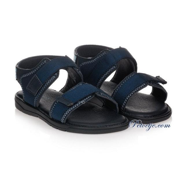 HUGO BOSS Kidswear  Boys Navy Blue Sandals