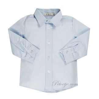 EMC Jongens  Blauw Katoenen Hemd