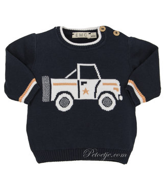 EMC Navy Blue Knitted Sweater