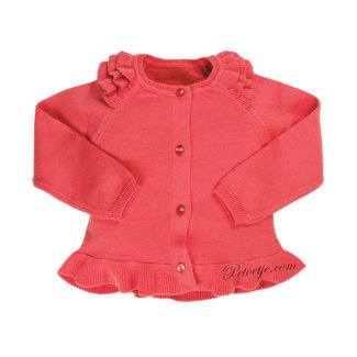 EMC Coral Red Knitted Cardigan
