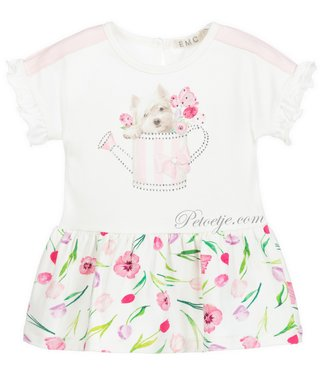 EMC White Floral Jersey Dress