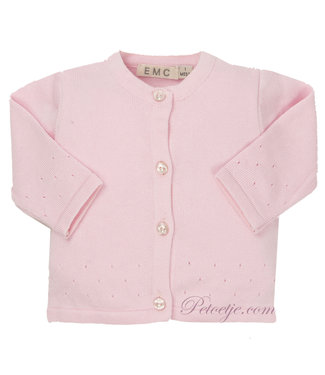 EMC Baby Girls Pink Knitted Cardigan