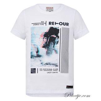 RETOUR Jeans Jongens Witte T-Shirt - Flynn