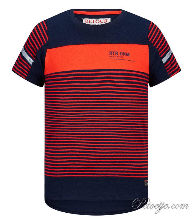 RETOUR Jeans Boys Blue & Red T-Shirt