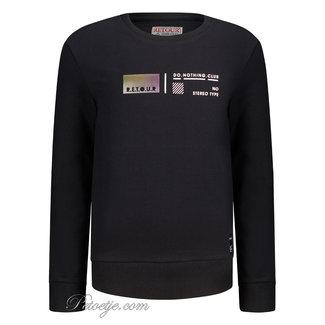 RETOUR Jeans Jongens Zwarte Sweater Trui