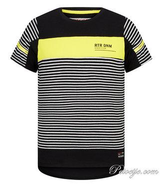 RETOUR Jeans Jongens Zwart & Gele T-Shirt