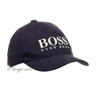 HUGO BOSS Kidswear  Boys Blue Cotton Logo Cap