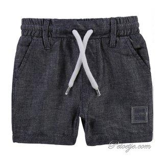 HUGO BOSS Kidswear  Boys Blue Chambray Linen Shorts