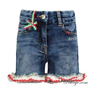MONNALISA Blue Strawberry Denim Shorts