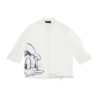 MONNALISA Boys White Cotton Disney Shirt