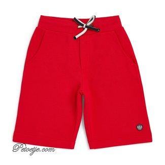 EMPORIO ARMANI Red Jersey Logo Shorts