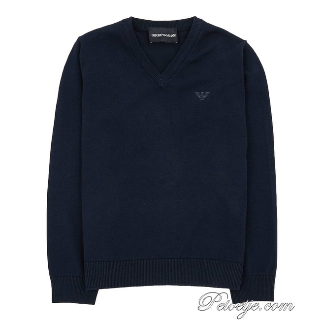 EMPORIO ARMANI Boys Blue Knitted Sweater