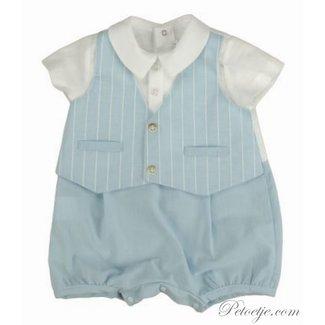 BARCELLINO Baby Blauw Gekleed Romper Pakje