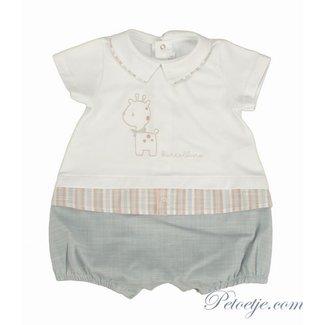 BARCELLINO Baby Girls White & Grey Shortie