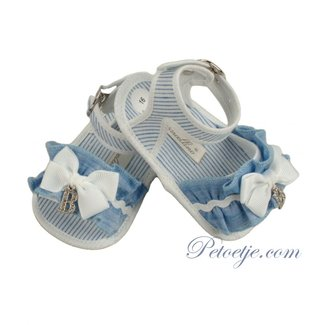 BARCELLINO Baby Girls Blue Sandals